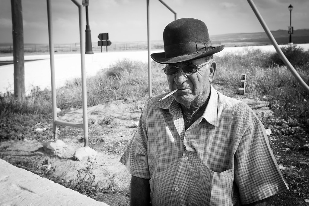 Old man with hat, Lanzarote, Spain