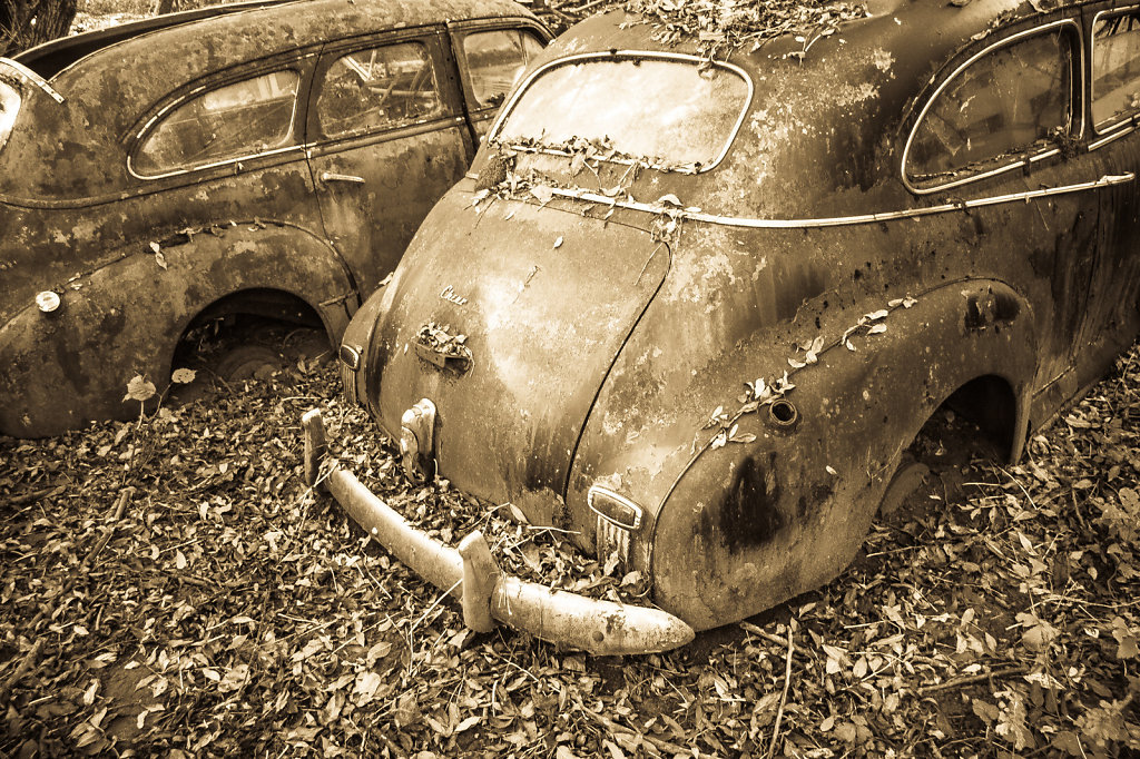 Car cemetery, Thun, Switzerland